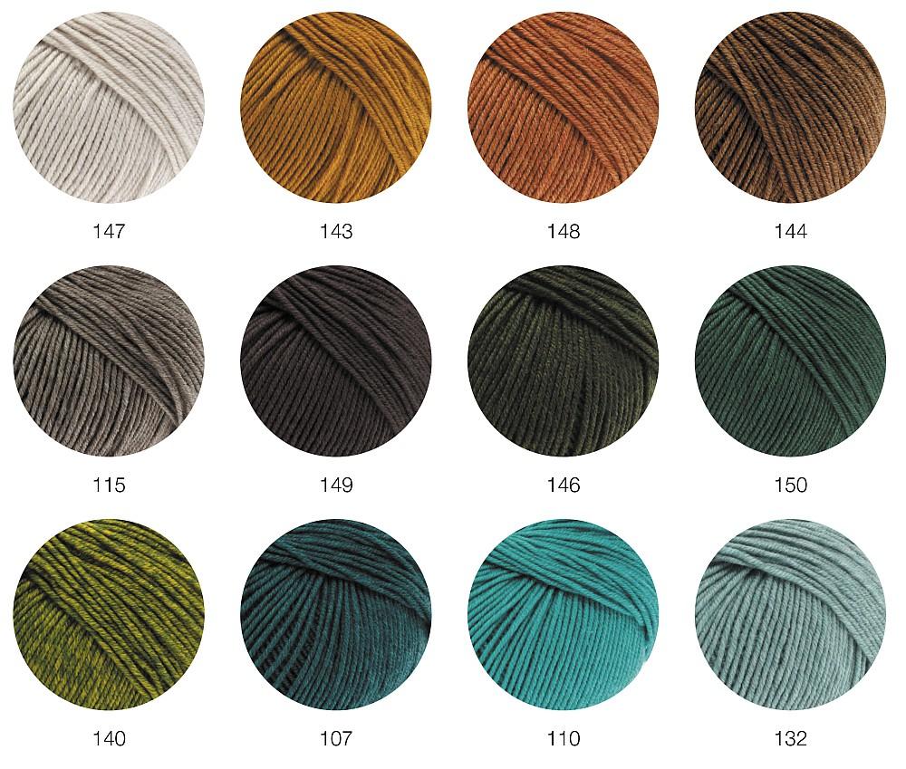 Lana Grossa Cool Wool Melange 107 Petrol meliert 50g extrafeine Merinowolle
